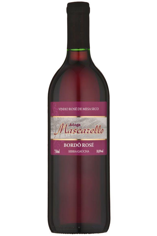 Caixa com 12 un - Vinho Bordô-Rosé Seco 750ml