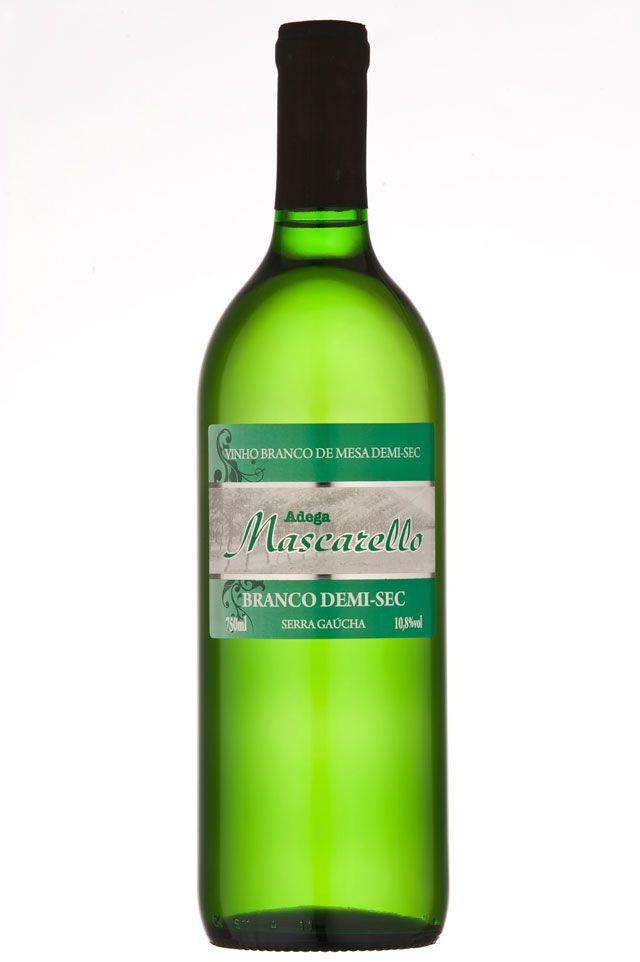 Caixa com 12 un - Vinho Branco Demi Sec 750ml