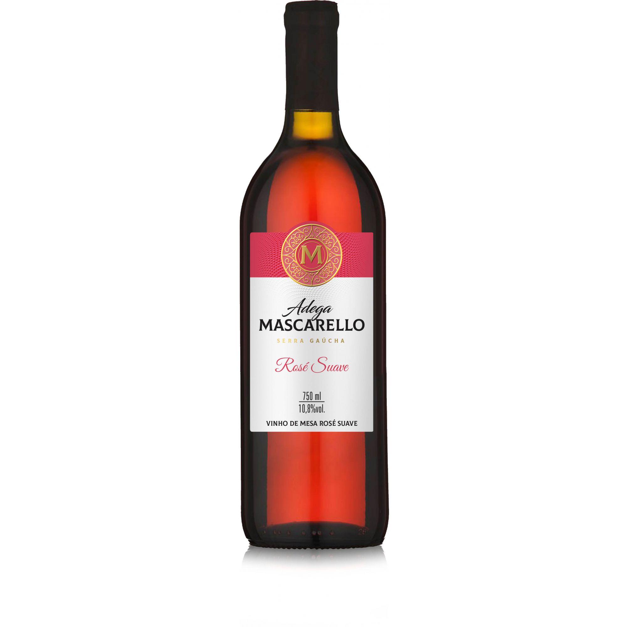 Caixa com 12 un - Vinho Rosé Suave 750ml