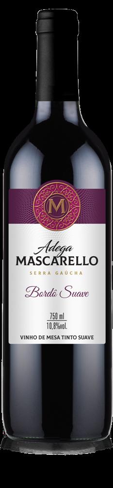 Caixa com 12 un - Vinho Tinto Bordô Suave 750ml