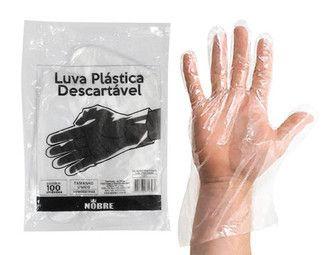 Luva Plástica Descartável - Nobre