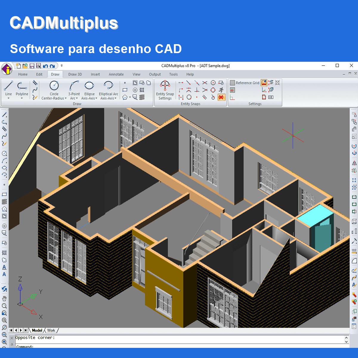 Software CADMultiplus pacote PRO versão V8