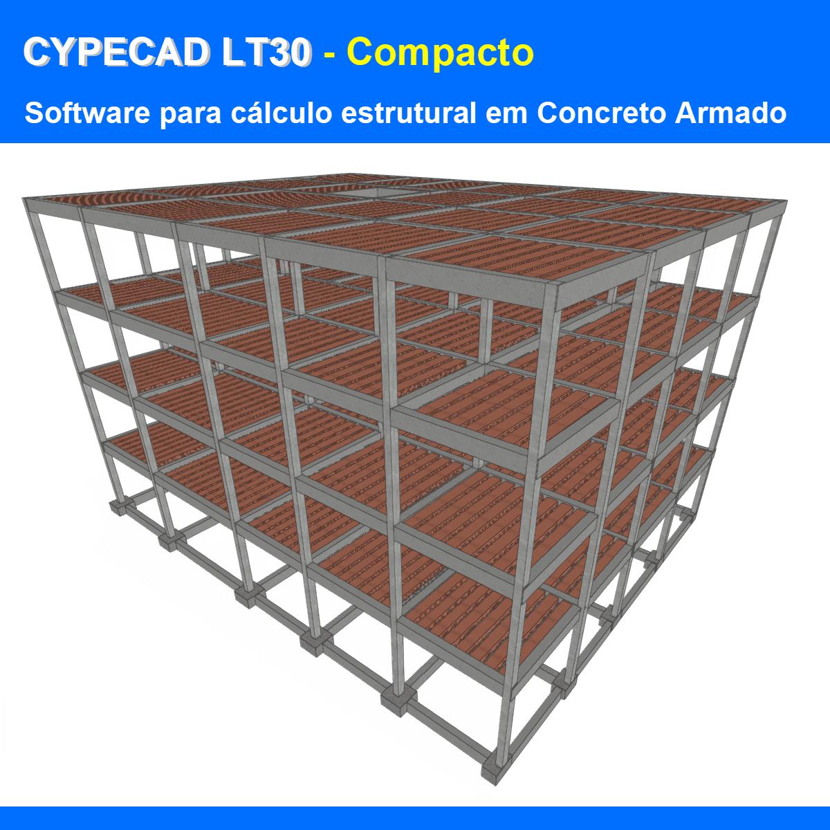Software CYPECAD LT30 Compacto versão 2022 (Licença Eletrônica) incluindo a modulação descrita em