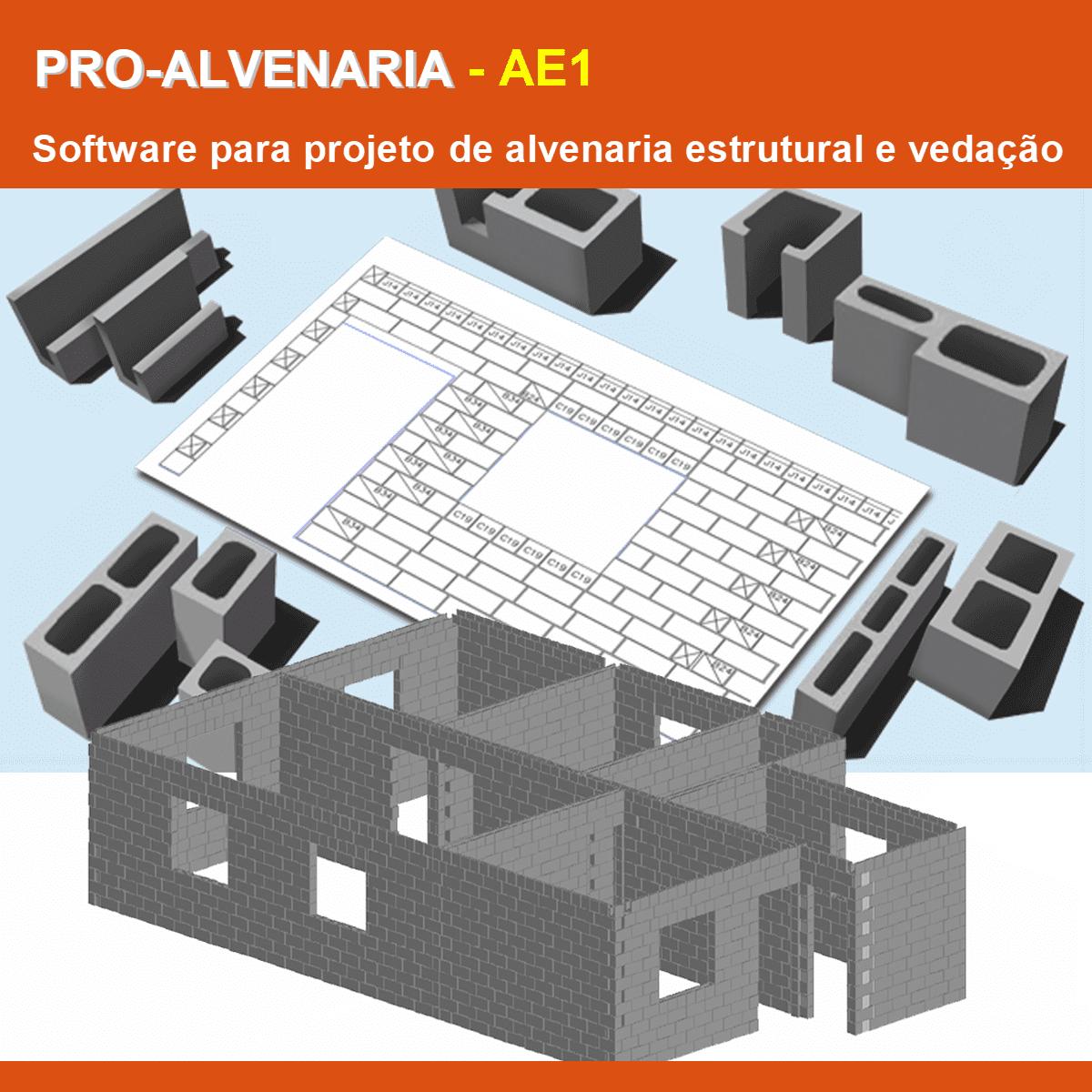 Software PRO-Alvenaria versão 18 Pacote AE1