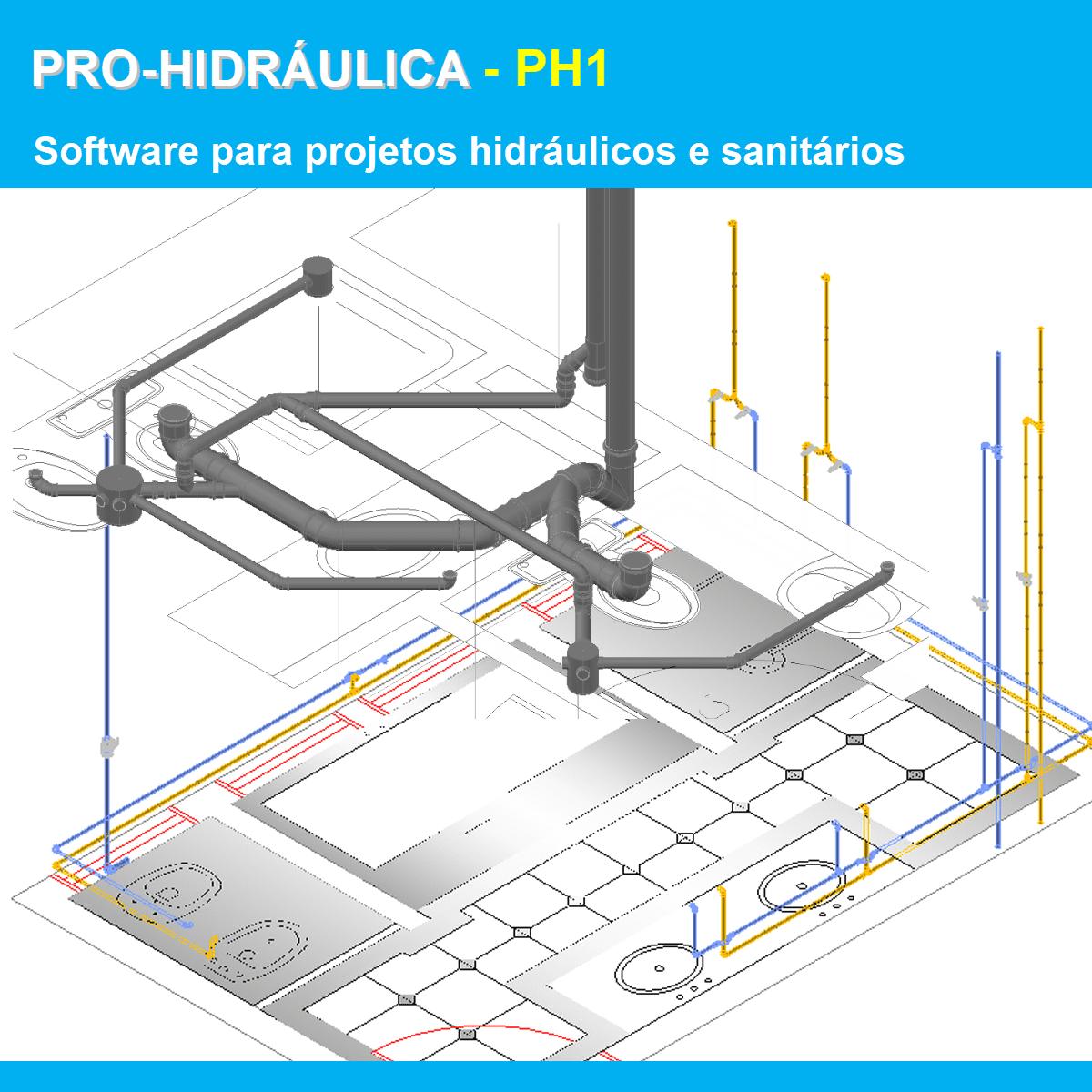 Software PRO-Hidráulica versão 18 Pacote PH1 incluindo Detalhamento e Dimensionamento