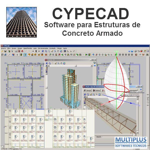 Curso À Distância do Software CYPECAD, com duração de 16 horas, nos dias 09/09, 11/09, 13/09 e 16/09/19, Via Internet