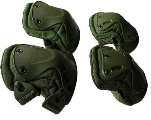 Kit Joelheira E Cotoveleira Tática Militar Airsoft - Olive abd4eb1a00