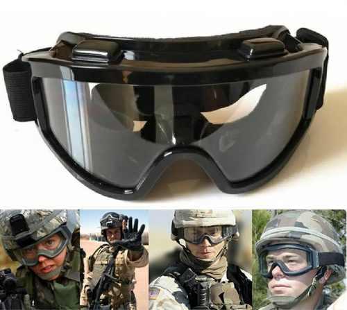 d92e2022f1983 Óculos De Proteção Militar Tático Airsoft Goggle - 2 Lentes ...