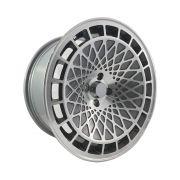 """Jogo 4 rodas Cosmos AV14 aro 17"""" furação 4x100 acabamento grafite e diamante tala 8,5 ET 15"""