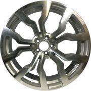 """Jogo 4 rodas Presenza R-617 Audi R8 2010 aro 20"""" furação 5X100 acabamento prata e diamante tala 7,5"""