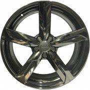"""Jogo 4 rodas Replica Audi Q5 2010 aro 19"""" furação 5X100 acabamento cromo black tala 8"""
