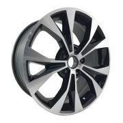 """Jogo 4 rodas Vaska New Civic 2015 aro 17"""" furação 5X114 acabamento preto e diamante tala 7 ET 40"""