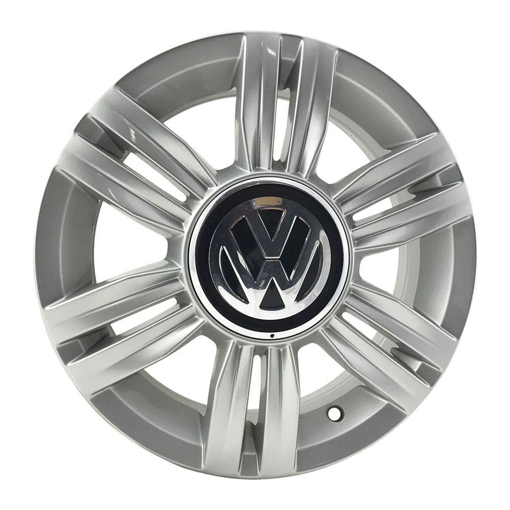 """Jogo 4 rodas original Volkswagen Up aro 14"""" furação 4X100 acabamento hiper prata tala 5"""