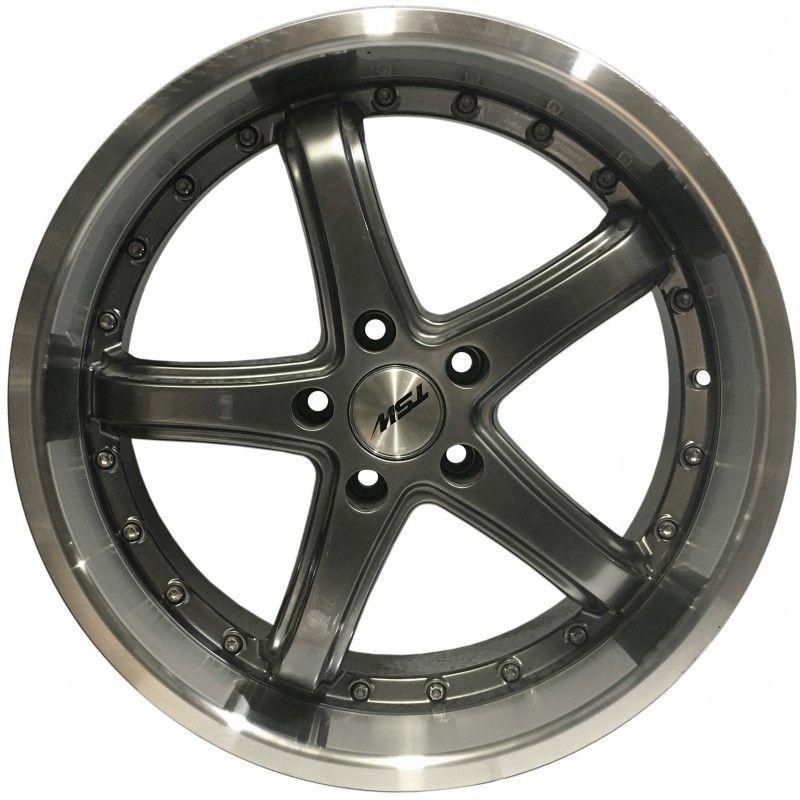 """Jogo 4 rodas TSW  Truxton aro 19"""" furação 5X114 acabamento grafite e diamante tala 8,5"""