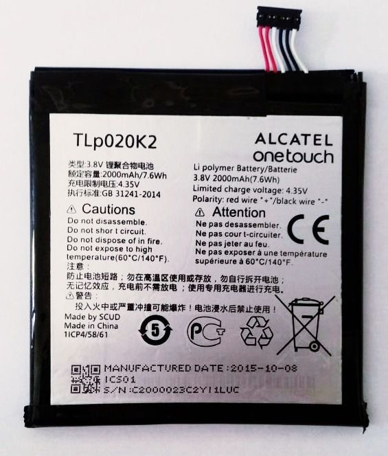 Bateria Alcatel One Touch Idol 3 6039y 6039 Tlp020k2