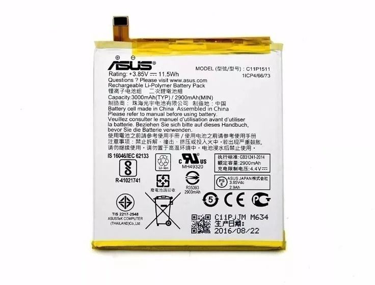 Bateria C11p1511 Asus Zenfone 3 5,5 polegadas Ze552kl Z012 Ze553kl