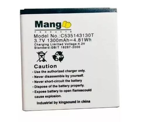 Bateria Mang Celular Blu Dash 4.0 Ce D370 D-370 C535143130t