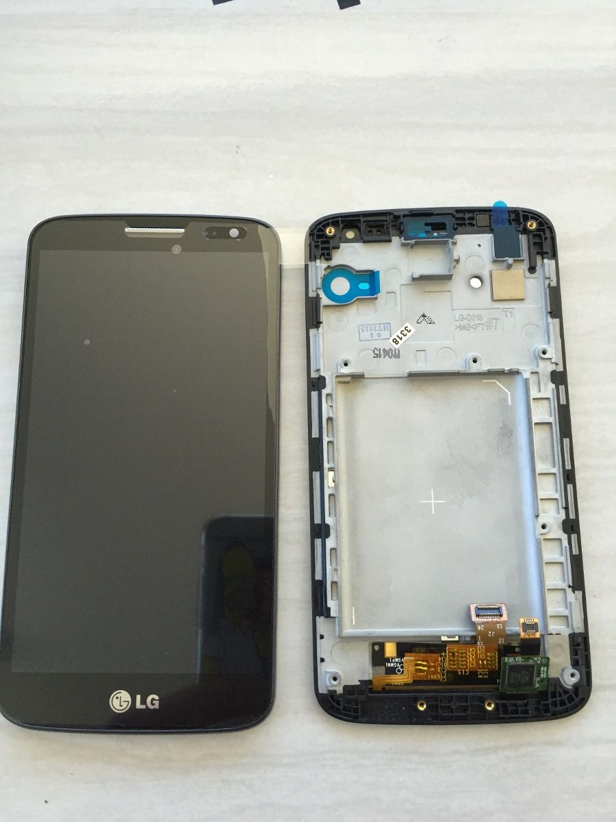 Frontal Tela Touch Display Lcd Lg Optimus G2 Mini D618 D620 D625 C/aro Original PRETO