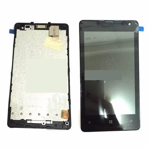 Frontal Tela Touch Display Lcd Microsoft Nokia Lumia 435 N435 Origin PRETO