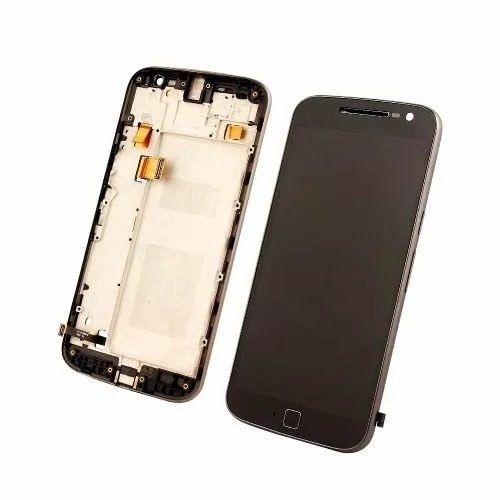 Frontal Tela Touch Display Lcd   Moto G4 Plus Xt1640 Xt1644  Com Aro PRETO