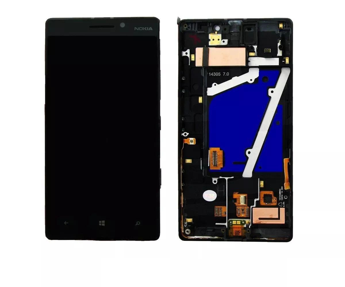 Frontal Tela Touch Display Lcd    Nokia Lumia 930 Rm-1045 Com Aro PRETO