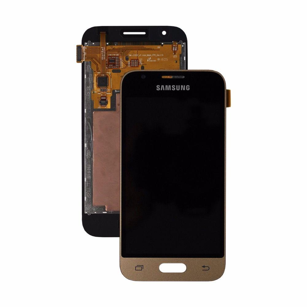 Frontal Tela Touch Display Lcd Samsung Galaxy J1 Mini J105 DOURADO