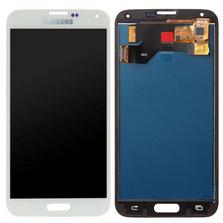 Frontal Tela Touch Display Lcd  Samsung Galaxy S5 G900 I9600 1°linha Branco
