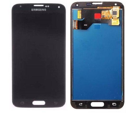 Frontal Tela Touch Display Lcd  Samsung Galaxy S5 G900 I9600 1°linha PRETO