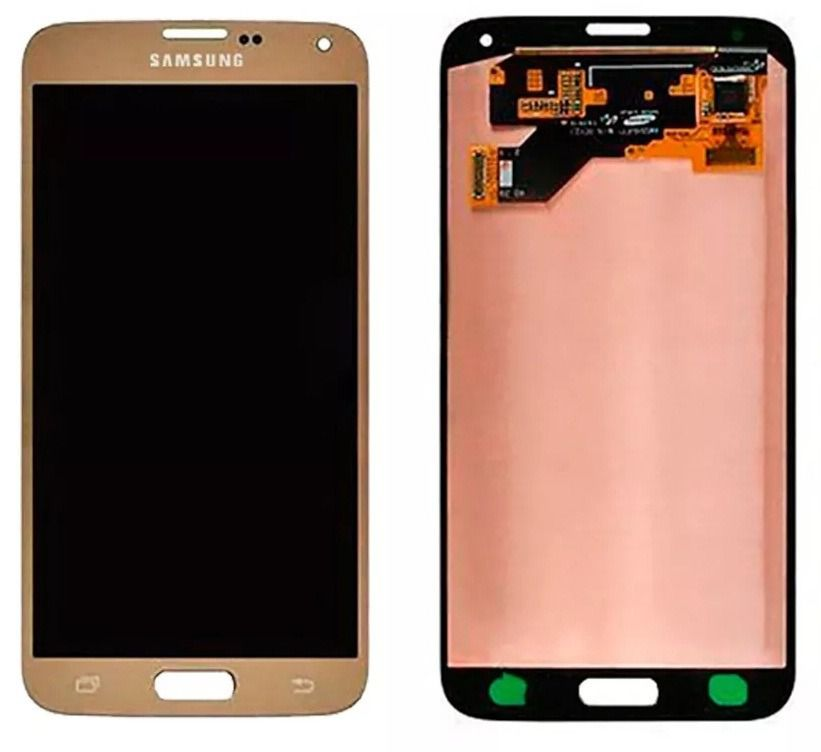 Frontal Tela Touch Display Lcd Samsung S5 Neo G903f Dourado Original
