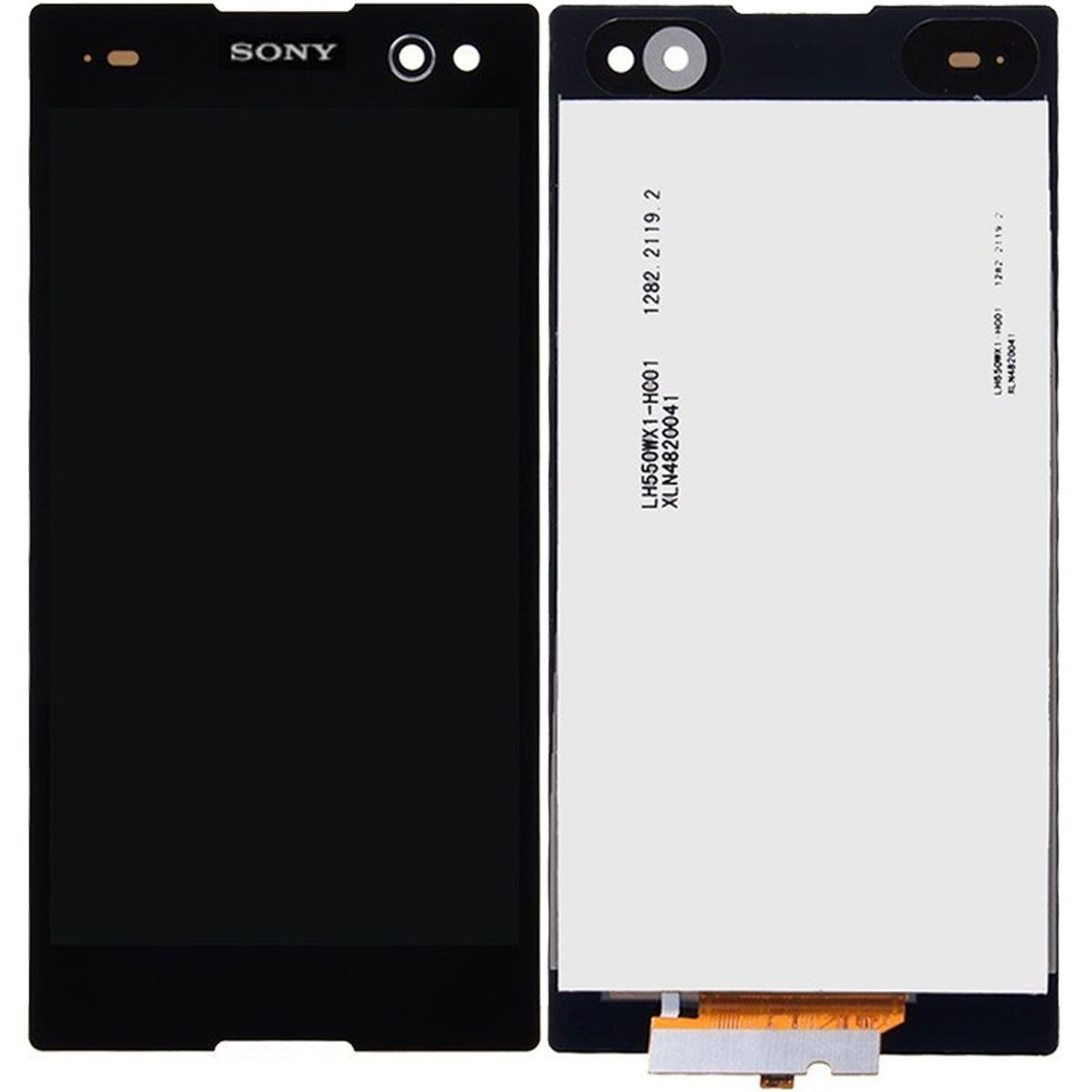 Frontal Tela Touch Display Lcd Sony Xperia C3 D2502 D2533 Preto