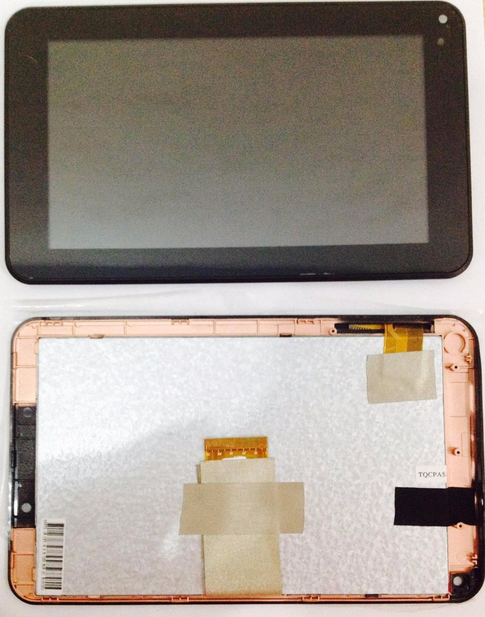Frontal Tela Touch Display Lcd Tablet Cce Tr72 Motion PRETO