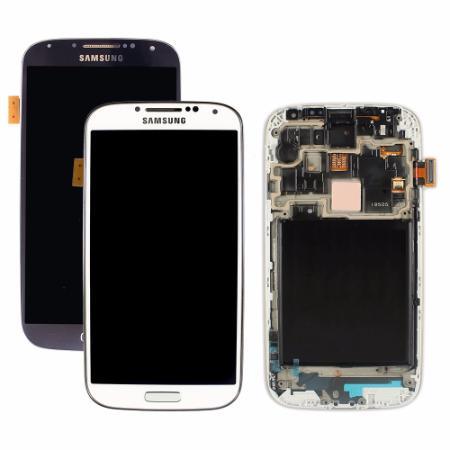 LCD TELA DISPLAY TOUCH SAMSUNG GALAXY S4 9505 4G BRANCO AZUL
