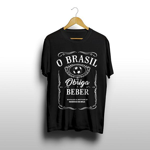 Camiseta - Brasil Me Obriga a Beber!