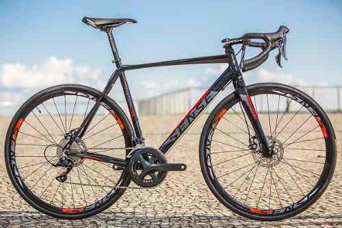 Bicicleta Speed Sense Criterium Tam53 Freio Disco +pedalclip