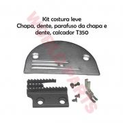 Kit Troca Chapa Dente Parafusos E Calcador 3 Carreiras