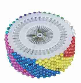 lfinete Cabeça Bola Colorida - Patchwork - 240 Peças
