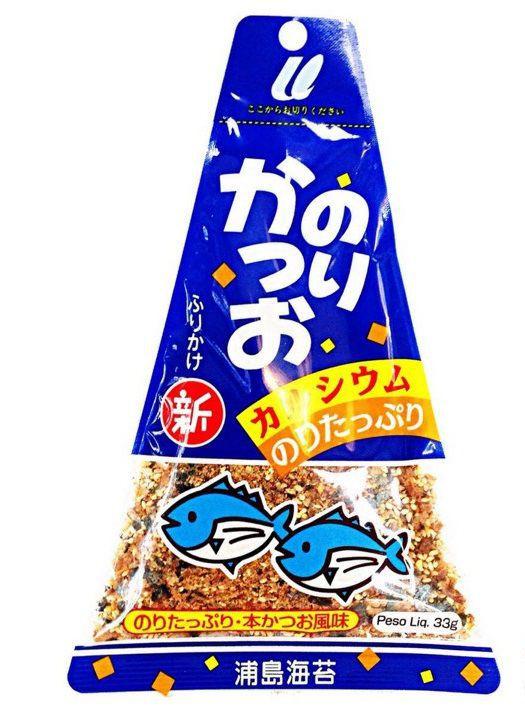 Tempero para Arroz Furikake Alga Marinha Nori e Peixe Katsuo 33g