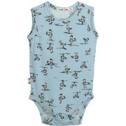 Body  Regata Bebê Estampa Albatroz Azul micromodal