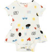 Body Vestido Bebê Formas micromodal