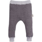Calça bebe tricot zigzag cinza