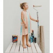 Vestido Infantil risca de giz