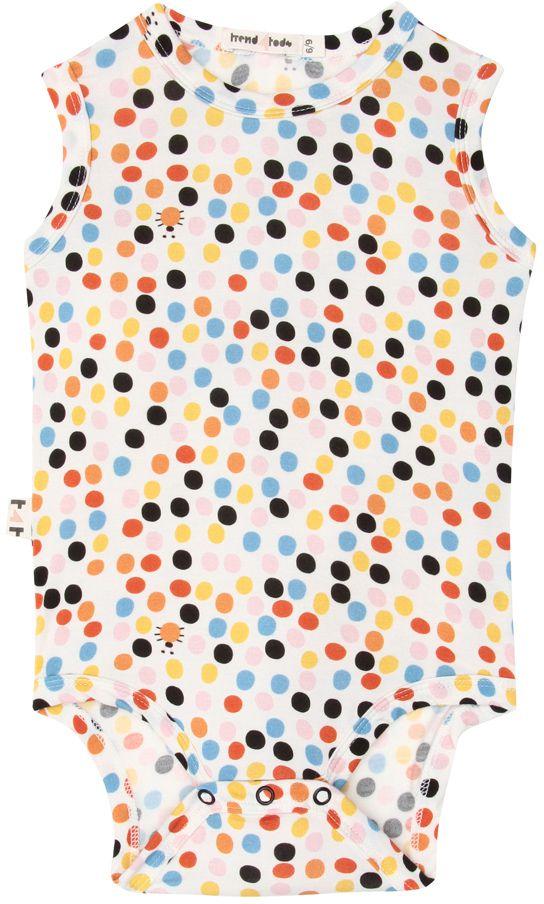 Body  Regata Bebê Estampa Dots micromodal