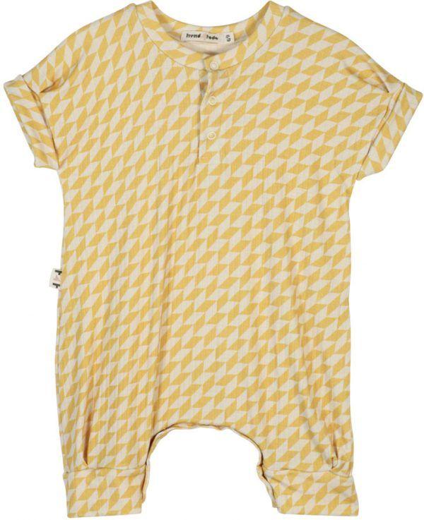 Macacão Bebê Geométrico Amarelo