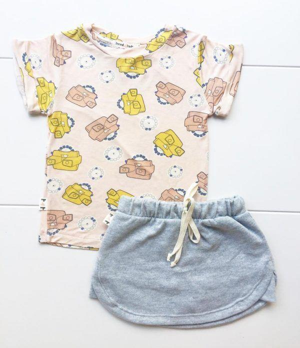 Shorts Saia Infantil Mescla