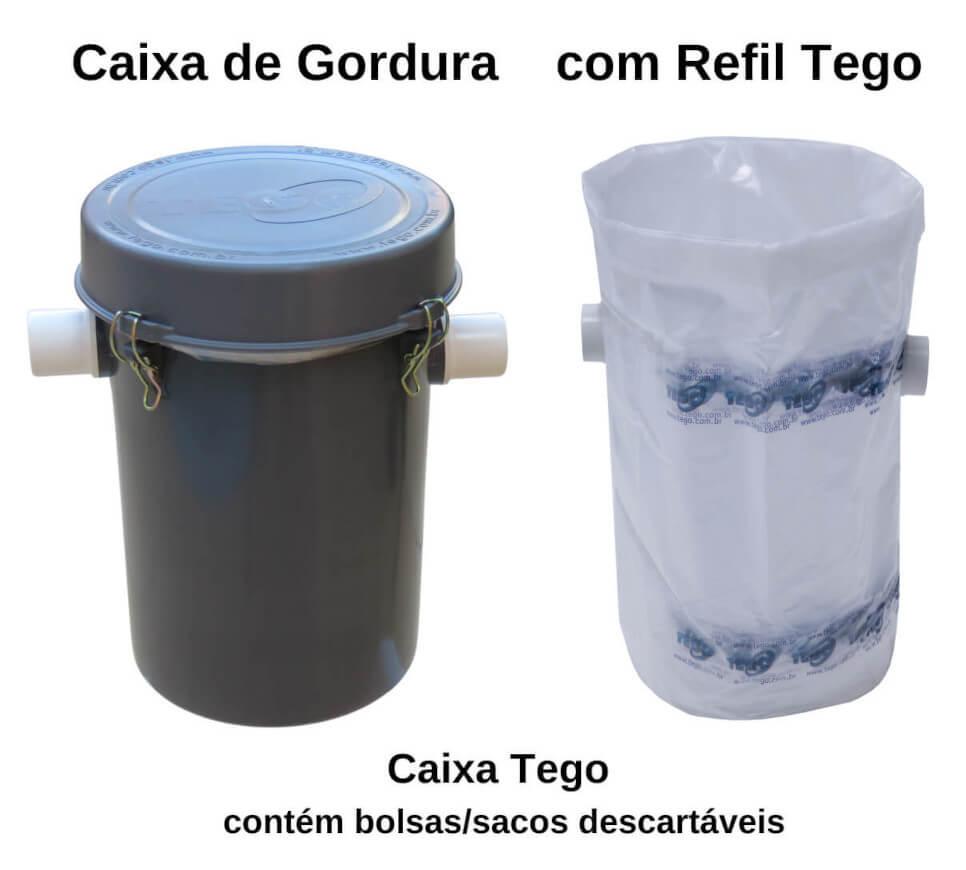 Caixa de Gordura com Refil - Tego