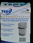 Refil com 10 bolsas descartáveis para Caixa de Gordura e Caixa de Separação de Gesso Tego
