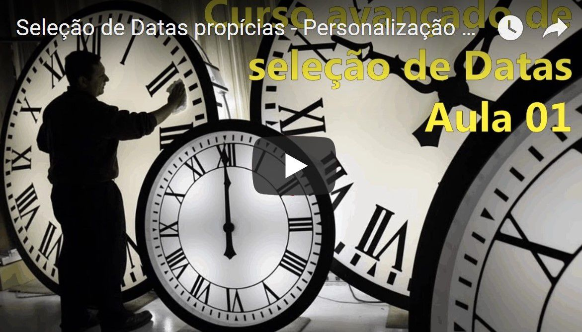Seleção de Datas Propicias Avançada - Personalização da agenda