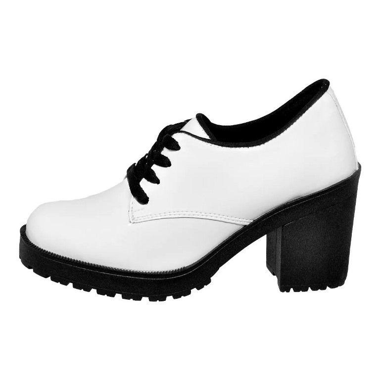 Coturno Clube do Sapato de Franca Montividéu Verniz Branco