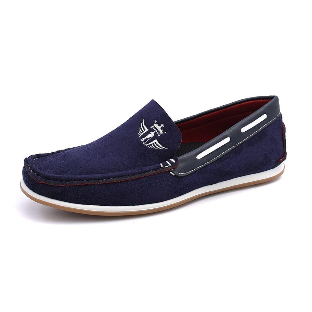 Mocassim Sider Clube Do Sapato De Franca Suede Estilo Azul