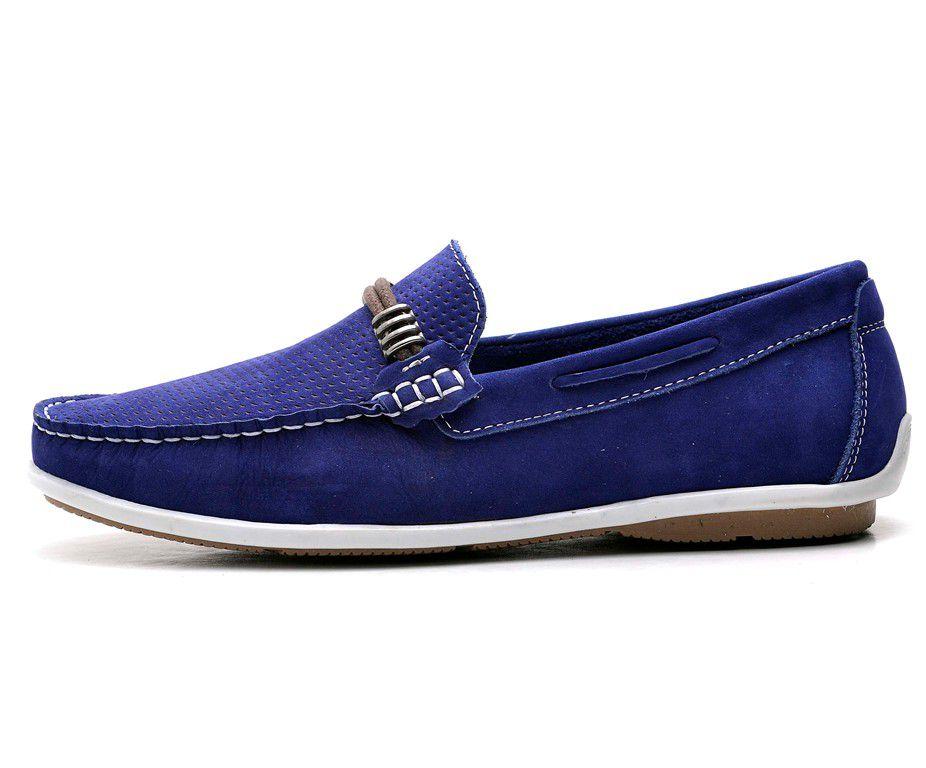 Mocassim Sider GTS Gravata Nobuck Azul